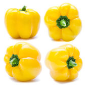 Group of yellow bell pepper or capsicum  — Stock Photo