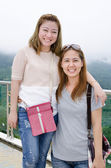 Portrait of thailand asian women smiling at the viewer,  — Stock Photo
