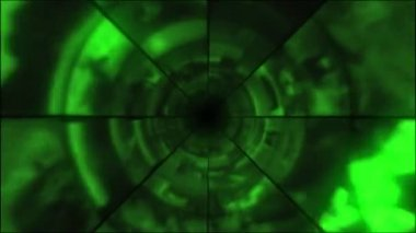 Video Clips Tunnel Vortex Cycle Colors — Stock Video