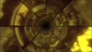 Video Clips Tunnel Vortex Gold — Stock Video