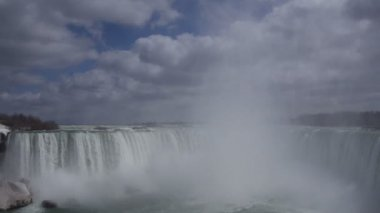 Niagara Falls Horseshoe Falls Slow Motion 02 — Stock Video