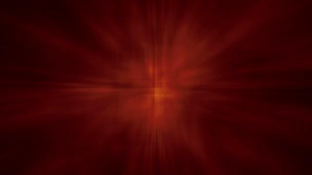 Estrella aura Resumen brillar bg - rojo — Vídeo de stock