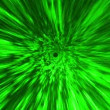 Stock Video: Star Burst Rays Tunnel Vortex Green Background