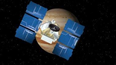 Satellite Approaches Jupiter — Stock Video