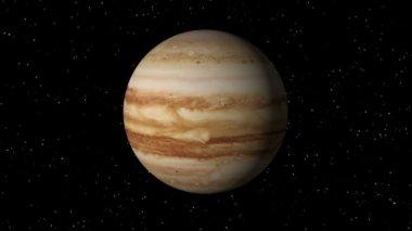Loop sem costura rotação de júpiter — Vídeo Stock
