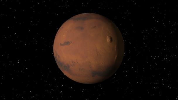 Marte girando bucle — Vídeo de stock