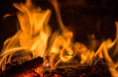 Hot Coals in the Fire — Stock Photo