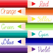 Coloured pencils. Creativity theme background. — Vettoriali Stock