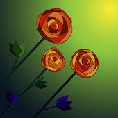 バラの花の背景. — ストックベクタ