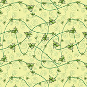 Seamless pattern with clover leaves for st.Patrick's Day. Dark background. — Stock Vector
