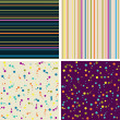 Set of four seamless abstract hand-drawn background. — Stock Photo #29595233