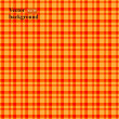 Retro vector seamless pattern. Colorful mosaic banner. Orange background with plaid pattern. — Stock Photo