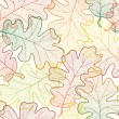 Autumn transparent maple leaves pattern background. Colored art vector autumn leaves pattern. Fabric texture. — Stock Photo