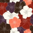 Stock Photo: Seamless floral colored background. Fabric texture. Floral vintage design.