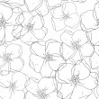 Seamless floral colored background. Black and white fabric texture. Floral vintage design. — Stock Photo #31746895