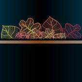 Fond ornemental avec des feuilles d'automne art. couches vectorielles. — Vecteur