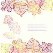 Ornamental background with art autumn leaves. — Stock Vector
