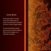 Vector floral dekorativen Hintergrund. Vorlage-Rahmenkonstruktion für Karte mit Platz für Ihren text. — Stockvektor