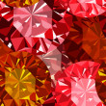 Gem seamless pattern. Ruby seamless pattern background. — Stock Vector