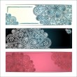Set of snowflakes frame. Christmas greeting card. Vector illustration. Beautiful lace ornament. — Stok Vektör