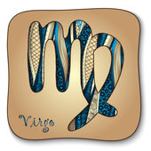 Zodiac sign - Virgo. Doodle hand-drawn style — Stock Vector