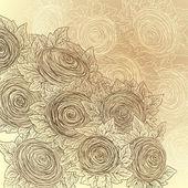 Vector floral decoratieve achtergrond. — Stockvector