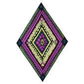 Original drawing tribal doddle rhombus. — ストックベクタ