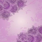 Vector floral dekoratif arka plan. — Stok Vektör