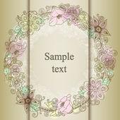 цветочные карточки с местом для текста — Cтоковый вектор