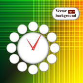 Vector time icon background. Geometric retro background with place for your text. Colorful banner. — Stock Vector