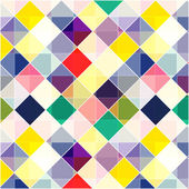 Retro vector seamless pattern. Colorful mosaic banner. Repeating geometric tiles with colored  rhombus. — Vector de stock