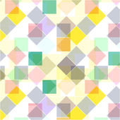 Retro vector seamless pattern. Colorful mosaic banner. Repeating geometric tiles with colored  rhombus. — Stock Vector