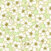 Seamless pattern with cherry blossom flowers. — Cтоковый вектор