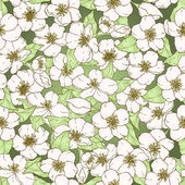 Bezešvé vzor s květy třešní. — Stock vektor