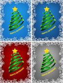 Kerstboom, instellen — Stockvector