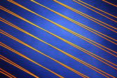 Yellow vertical striped Pattern on blue Background. — Stock Photo