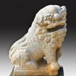 Chinese lion statue. — Stock Photo