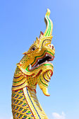 King of Naga in Temple of Thailand. — Stock Photo