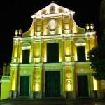 Sao Domingos, St. Dominic's Church in Macau at night. — Stock Photo #27291589