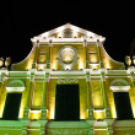 Sao Domingos, St. Dominic's Church in Macau at night. — Stock Photo #27291681