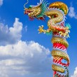 Dragon statue with the blue sky field. — Stock Photo