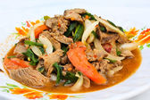 Thai beef salad, yam nua, a very spicy salad with cold, fried be — Stock Photo