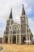 Katedra niepokalanego poczęcia, chanthaburi, chin — Zdjęcie stockowe