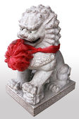 China lion statue in temple china, in thailand. — Foto de Stock
