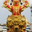 Stock Photo: Head of royal barge, supreme art of Thailand.