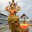 Stock Photo: Thai royal barge, supreme art of Thailand.