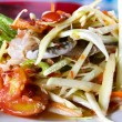Thai papaysalad also known as Som Tum from Thailand. — Stock Photo #27312651