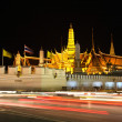 Night view of grand palace in bangkok, Thailand. — Stock Photo