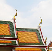 Unique rooftop of Thailand temple. — Stock Photo