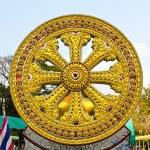 Wheel of dhamma of buddhism. — Stock Photo #27413679